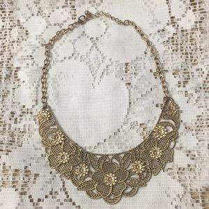Forever21 Golden Lace Necklace